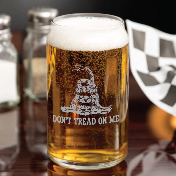 Gadsden Flag Beer Can Glass, Patriotic American Flag Beer Mug, Laser Etched Beer Glass, Pint Glass, Beer Gift, Regalos Para Hombres, Personalized Gifts
