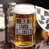 Funny, Novelty  Beer Can Glass, Old Lives Matter Beer Mug, Gag Gift, Laser Etched Beer Glass, Pint Glass, Beer Gift, Regalos Para Hombres, Personalized Gifts