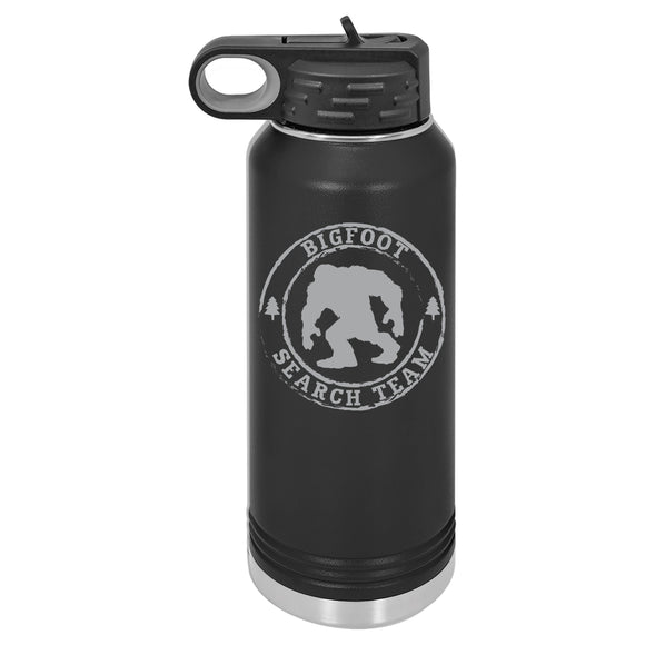 Hydro Flask Insulated with Lid, Patriotic Gift For Men, Bigfoot, Sasquatch Merchandise, Stainless Steel Custom Tumbler, Engraved, Water Bottle, regalos para hombres