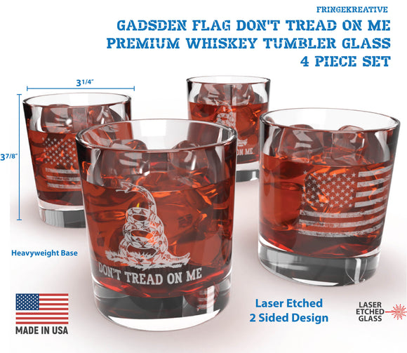 Whiskey Glasses, Drinking Glasses, Cocktail Glasses, Rocks, Regalos Para Hombres, Laser Etched Glass, Patriotic Rocks Glass Gadsden Flag, Don't Tread On Me Scotch Glass