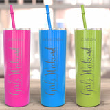 Girls Weekend | Cheaper Than Therapy Personalized | Skinny Tumblers