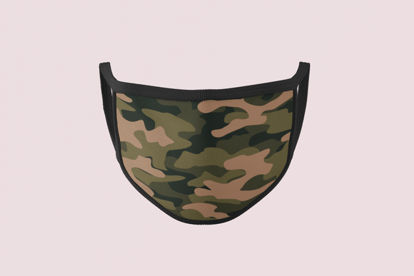 Camouflage Face Mask | Printed Camo Face Mask | $9.95