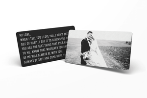 Metal Wallet Insert Card Personalized Photo Wallet Insert Personalized Gift Mom Dad Men Anneversary Valentines Regalo Personalizado Engraved Photo Gift