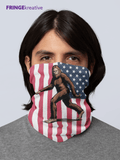 Sasquatch | Bigfoot USA Flag Neck Gaiter | Washable Reusable Face Mask