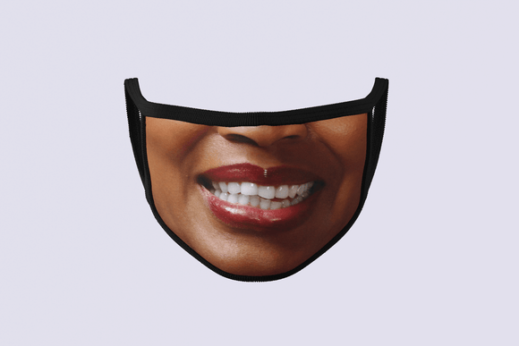 Smiling Woman Face Mask | Smiling Face Mask | $9.95