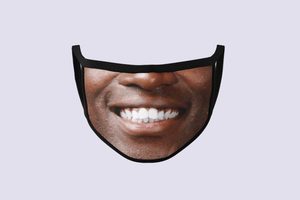 Smiling Man Face Mask | Funny Printed Face Mask