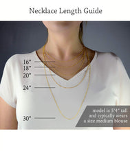 "Load image into Gallery viewer, Gold Cascade Glitter Necklace - 14k Gold Fill Chain - 24"" Chain Length"