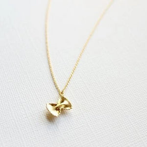 Pasta Bow Necklace - .925 Sterling Silver or 14k Gold Fill