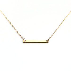 Minimalist Bar Necklace - 14k Gold Fill or Sterling Silver