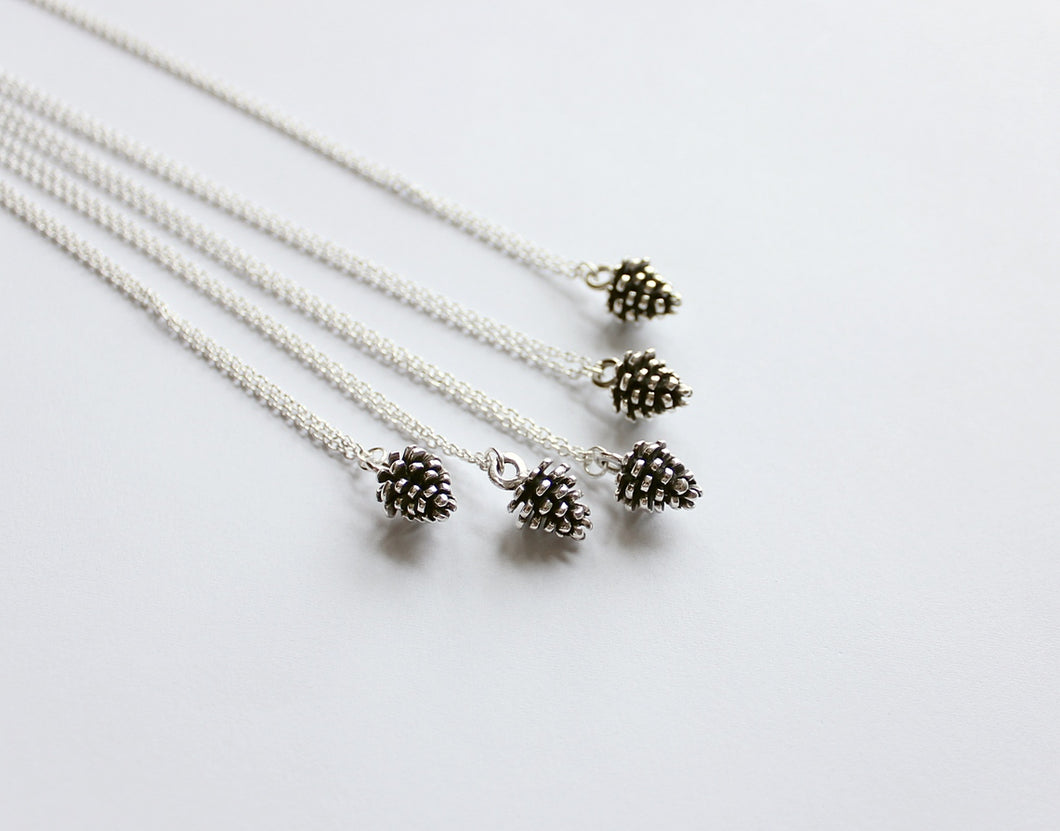 Sterling Silver Pine Cone Necklace
