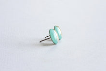 Load image into Gallery viewer, Mint Gold Color Block Stud Earrings