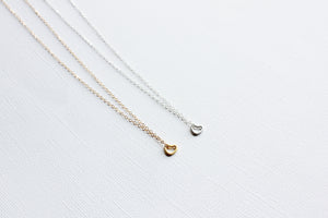 Tiny Heart Necklace -14k Gold Fill or Sterling Silver