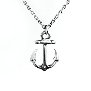 Sterling Silver Anchor Necklace - .925 Sterling Silver