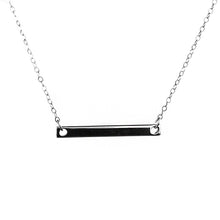 Load image into Gallery viewer, Minimalist Bar Necklace - 14k Gold Fill or Sterling Silver