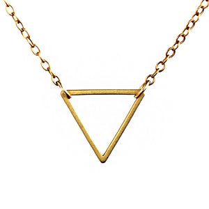 14k Gold Fill Triangle Necklace -14k Gold Fill