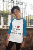 Elle Shanell Long-sleeve Big Hair Baseball Shirt