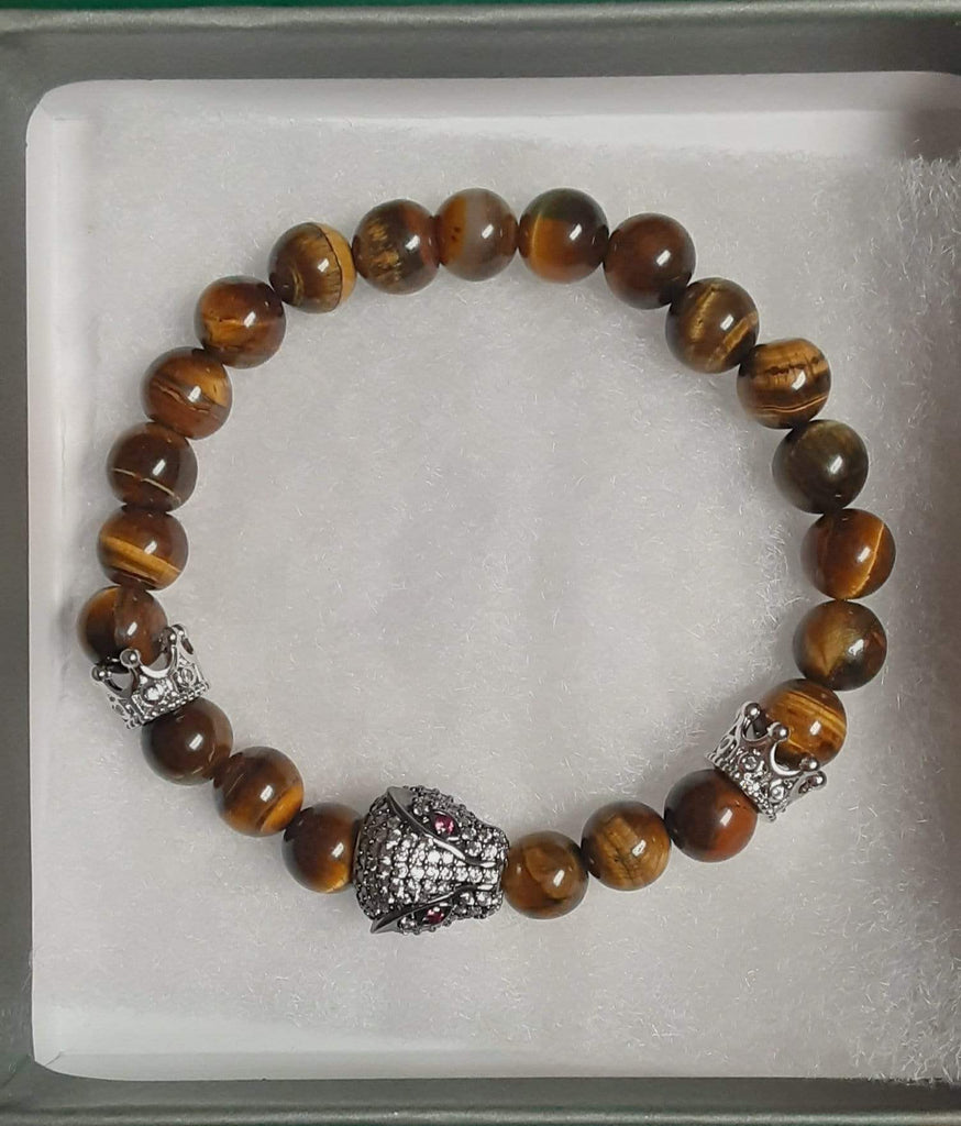 Elle Shanell Men's Tiger Eye Bracelet