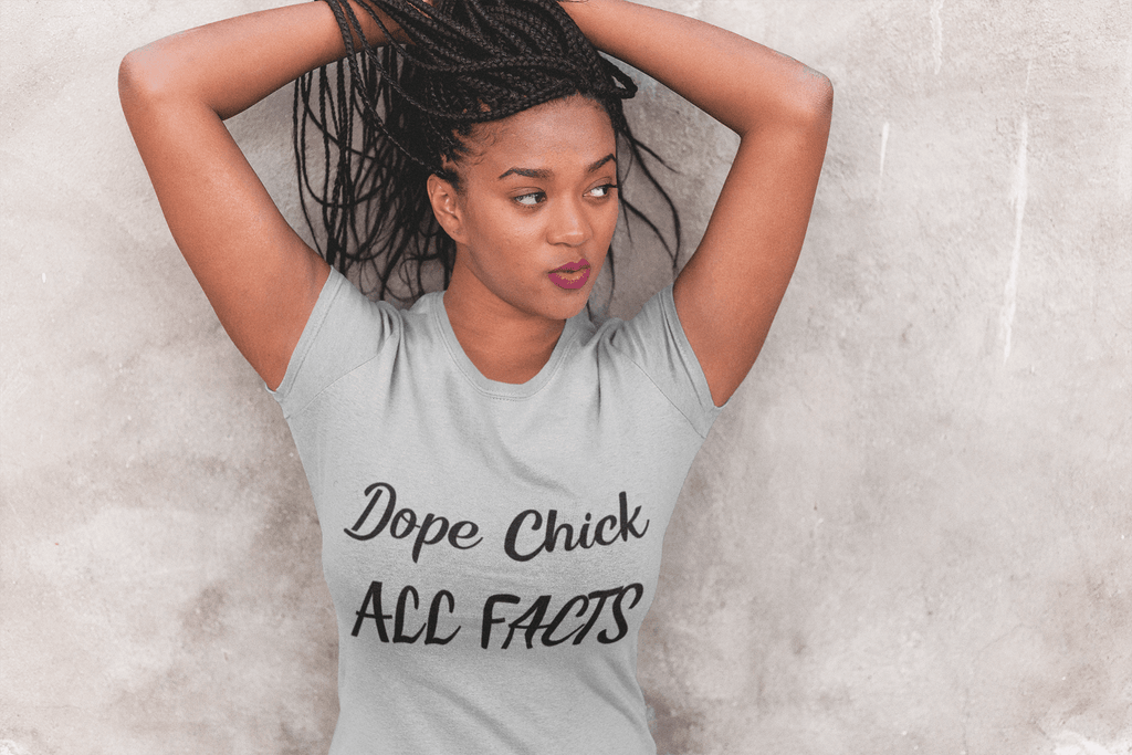 Elle Shanell Silver / S Dope Chick T-Shirt