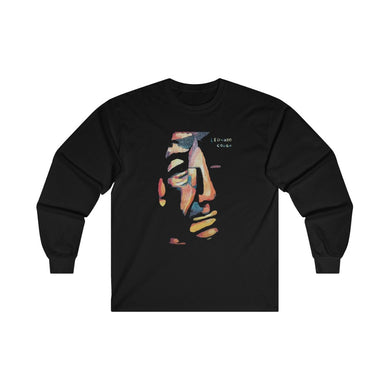 Leonard Cohen Original Portrait Painting Unisex Long Sleeve Shirt