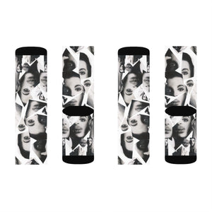 Prince Collage Sublimation Socks