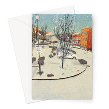Load image into Gallery viewer, Wintry Tannoy Square Greeting Card