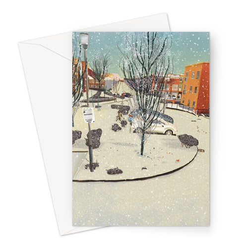 Wintry Tannoy Square Greeting Card