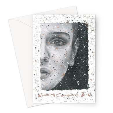 Nothing Compares 2 U Sinead O'Connor White Valentine's Card