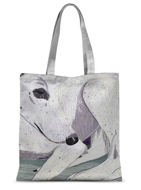 Lady, The Greyhound Dog Single-sided Tote Bag