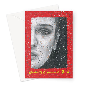 Nothing Compares 2 U Sinead O'Connor Red Valentine's Card