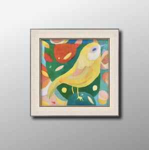 Canary bird Norwich City FC mascot colourful fan art painting poster print wall pattern decor OTBC!!!