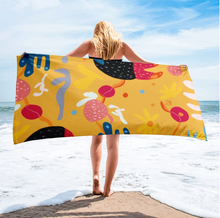 Load image into Gallery viewer, Abstract Yellow Towel