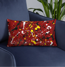 Load image into Gallery viewer, Abstract Red Single-sided cushion