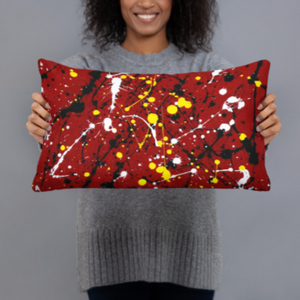 Abstract Red Double-sided cushion