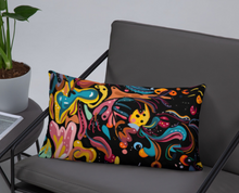 Load image into Gallery viewer, Summer Fruit Black Double-sided Cushion
