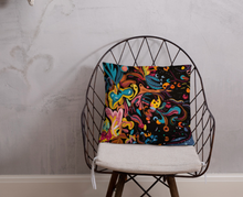 Load image into Gallery viewer, Summer Fruit Black Single-sided Cushion