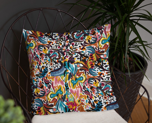 Summer Fruit Patterned White Double-sided Cushion