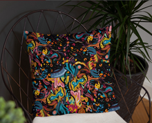 Load image into Gallery viewer, Summer Fruit Patterned Black Single-sided Cushion