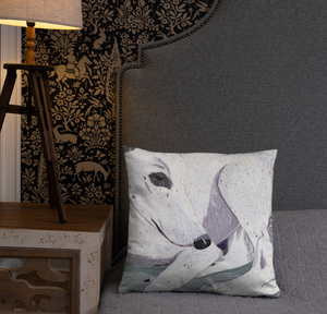 Lady, The Greyhound Dog Single-sided Cushion