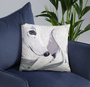 Lady, The Greyhound Dog Double-sided Cushion