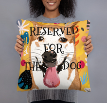 "Load image into Gallery viewer, RESERVED FOR THE DOG ""bb"" dog lovers single-sided cushion"