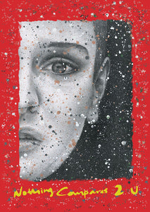 "Sinead O'Connor ""Nothing compares 2 U"" Red Poster"