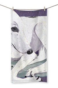 Lady, The Greyhound Dog Towel