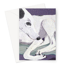 Load image into Gallery viewer, Lady, The Greyhound Dog Greeting Card