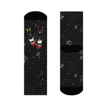 Load image into Gallery viewer, Intergalactic Christmas Couple Crew Socks