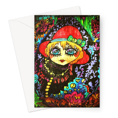 Mirror Girl Greeting Card