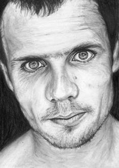 Flea bass player of Red Hot Chili Peppers RHCP funk monk series black and white charcoal drawing portrait fan tribute art print poster