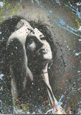 Amy Winehouse Splattered Paint Version 2