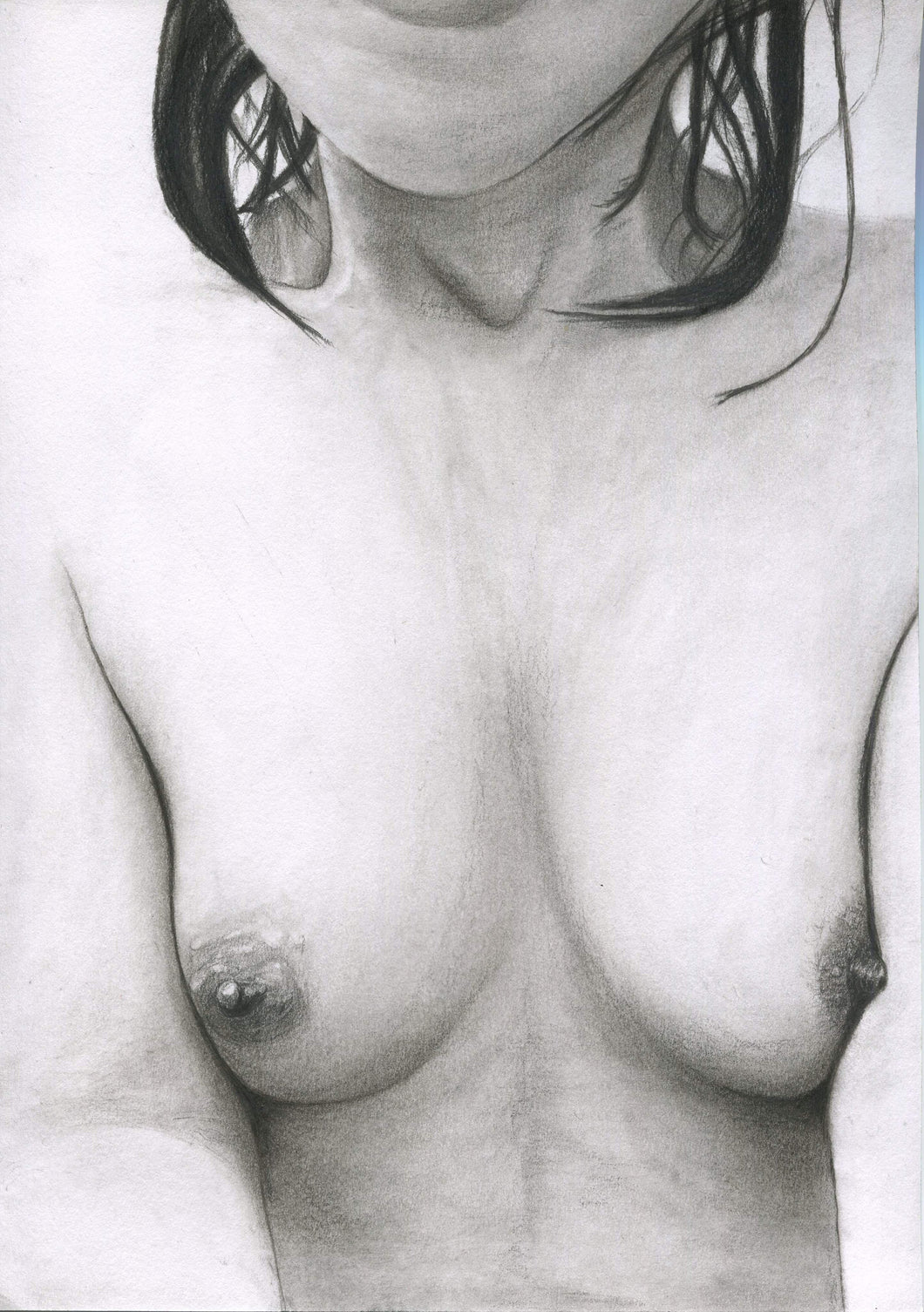 Come to me - nude erotic art pencil charcoal drawing Fine Art Print wall decor