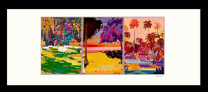 The Swimming Pool, part of Koh Samui Thailand triptych Wedding series tropical island life colourful local art illustration poster print
