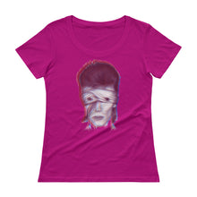 Load image into Gallery viewer, DAVID BOWIE Electric Ladies' Scoopneck T-Shirt